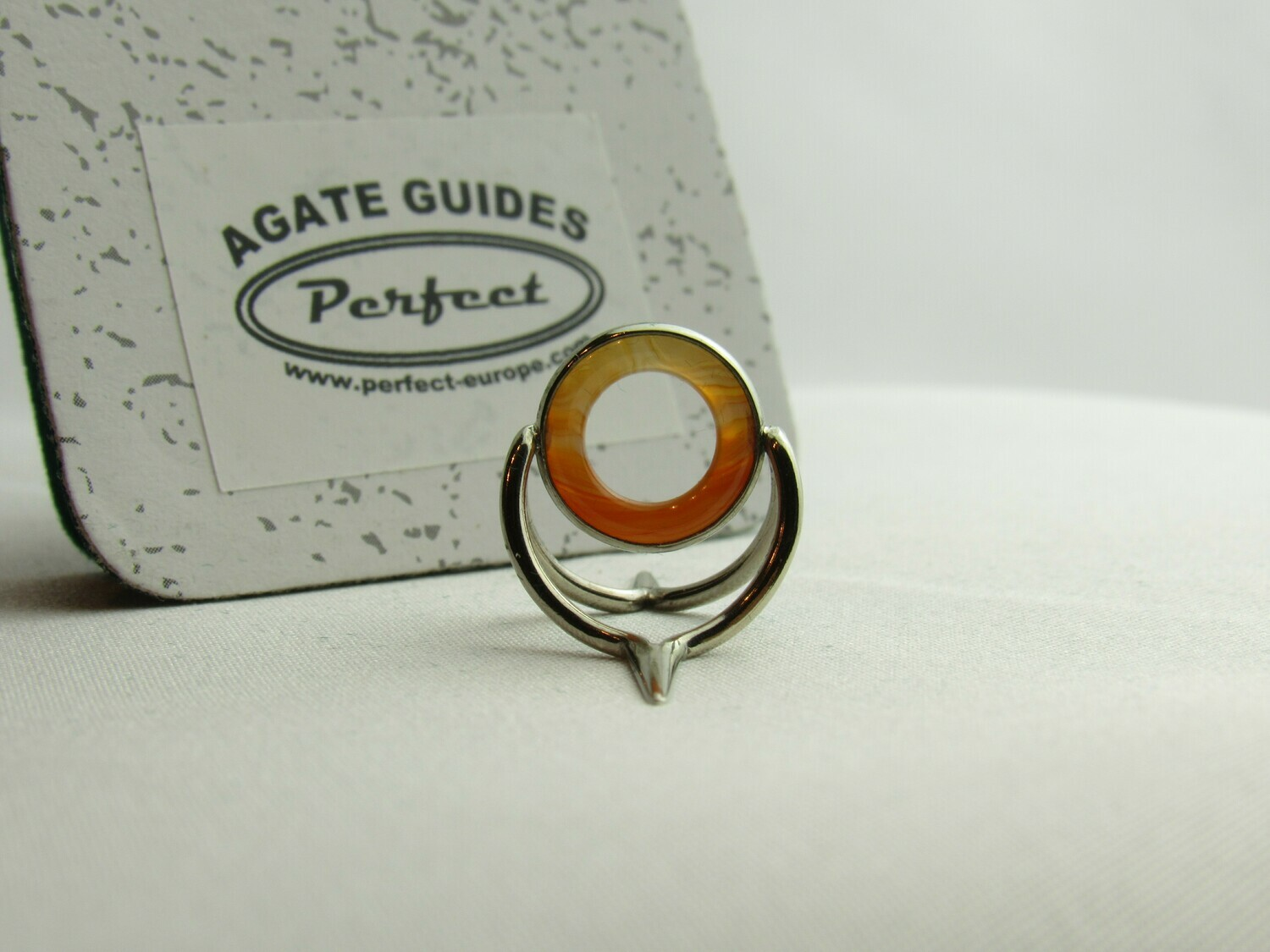 Agate Perfect Stripping Guide Ring 10mm orange clear / banded