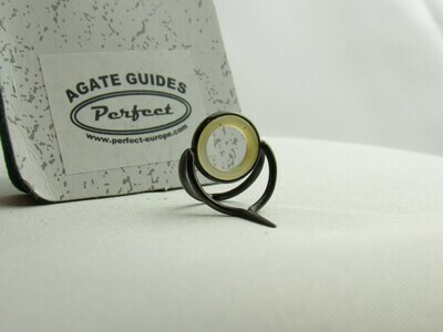 Agate Perfect Stripping Guide Ring 10mm clear light blue shine