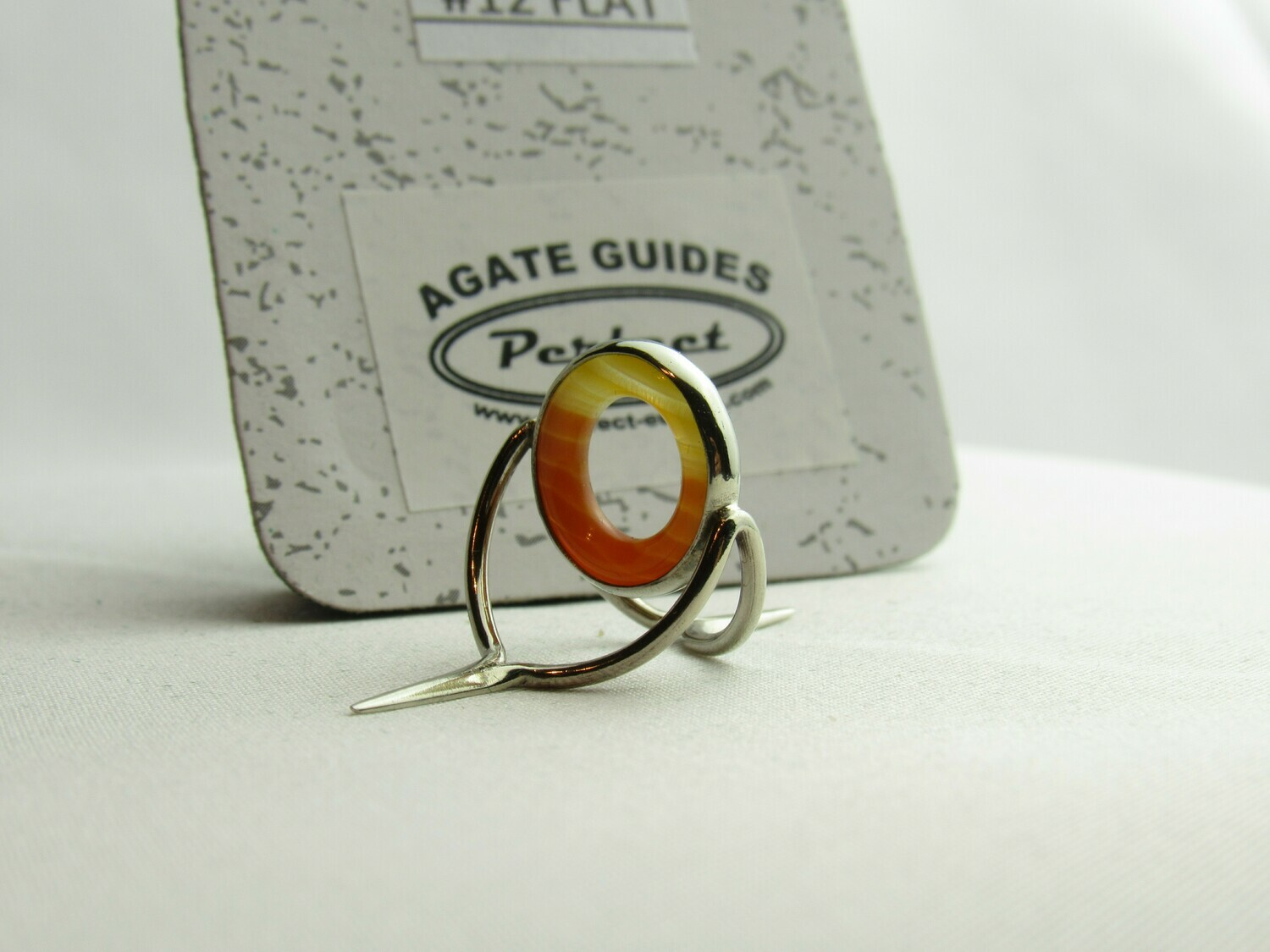 Agate Perfect Stripping Guide Ring 12mm orange white Sunrise