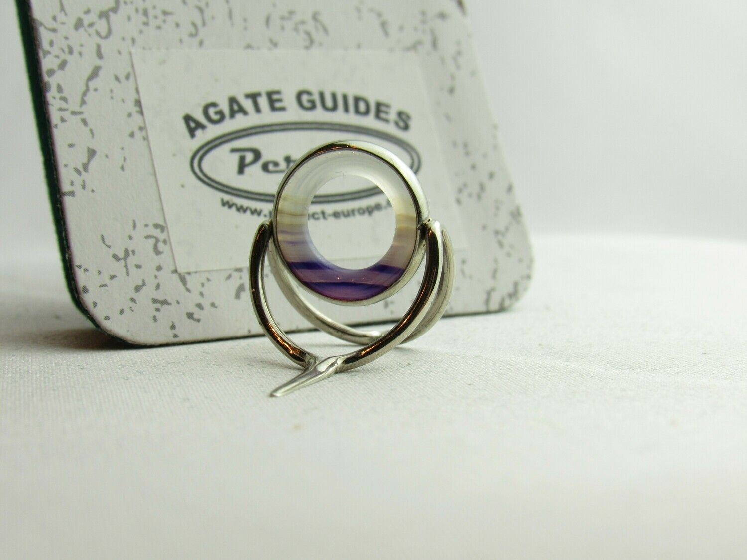 Agate Perfect Stripping Guide Ring 12mm purple/banded