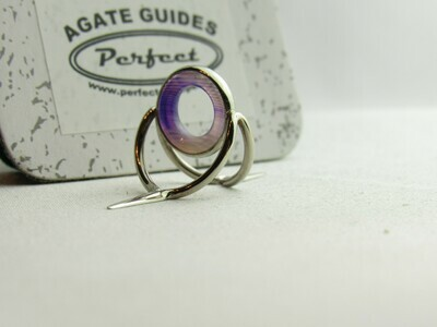 Agate Perfect Stripping Guide Ring 10mm purple/banded