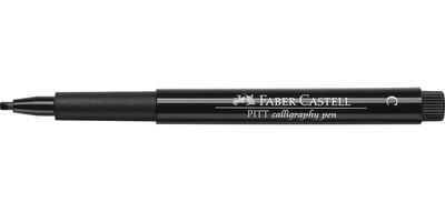 Rutenbau Tuschestift schwarz - Keilform - für feinste Zierwicklungen mit Seide
