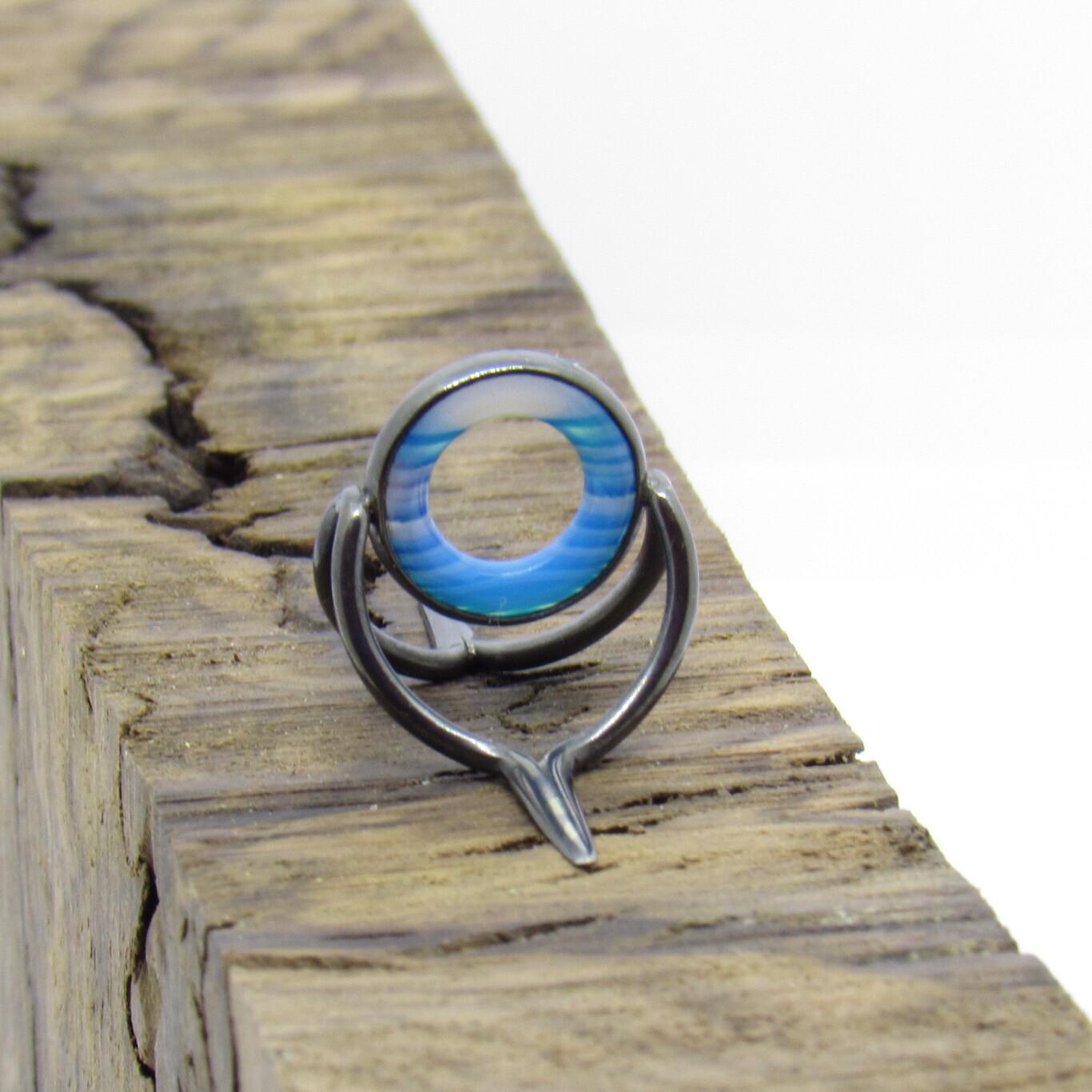 Agate Perfect Stripping Guide 10mm blau weiss silber brüniert