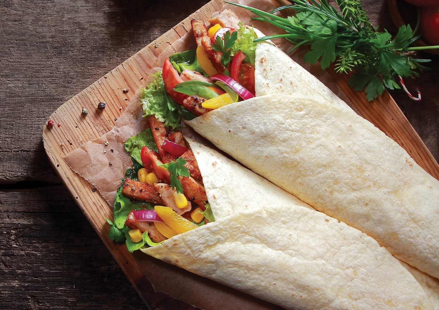 "12"" Plain Tortilla Wraps"