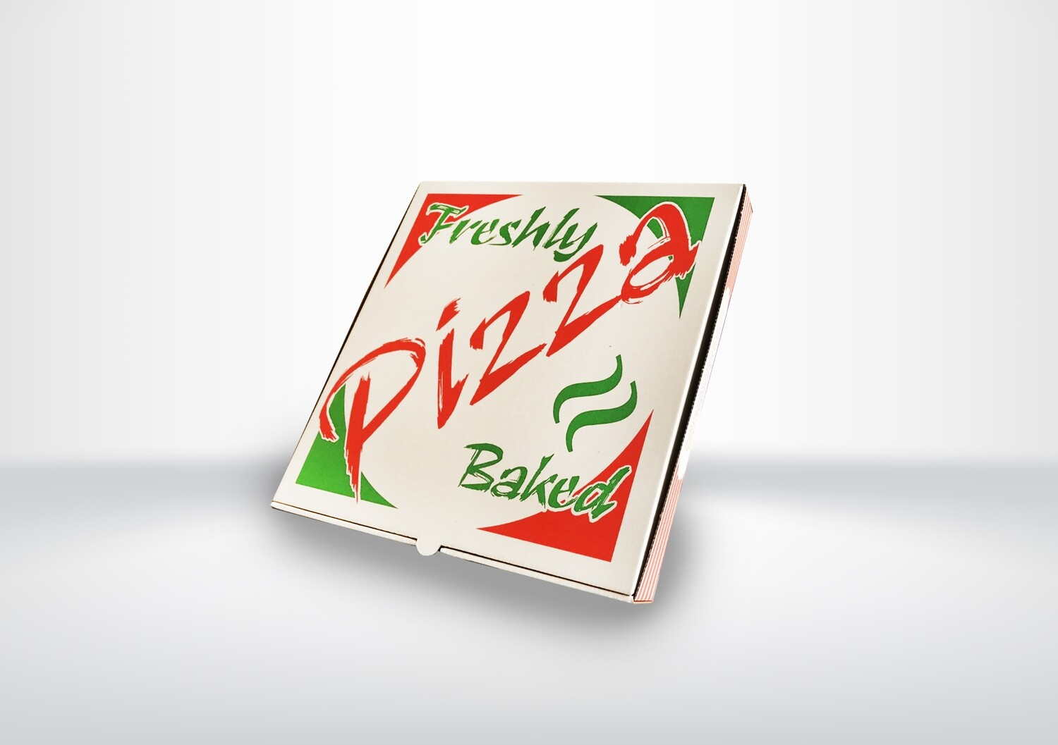 "14"" White Printed Pizza Boxes"