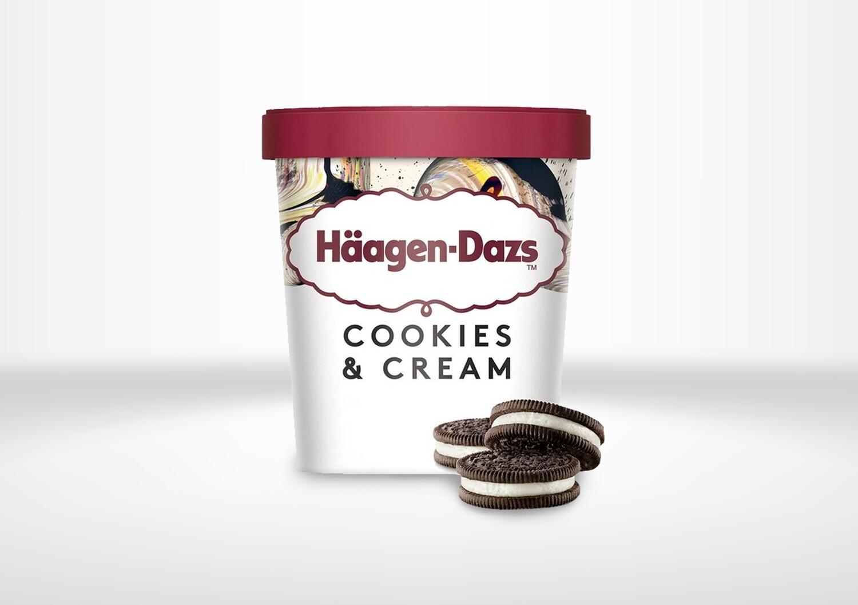 95ml Häagen Dazs - Cookies & Cream