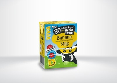 Viva Banana Flavoured Milk Cartons