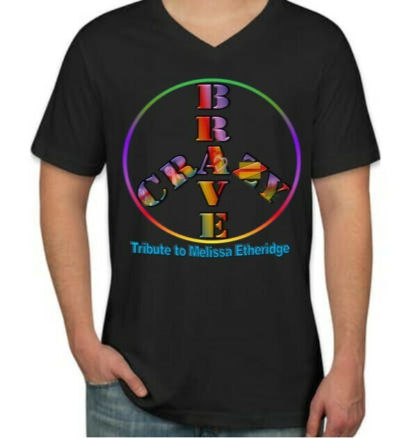 Brave and Crazy PRIDE Peace T-Shirt Women's cut