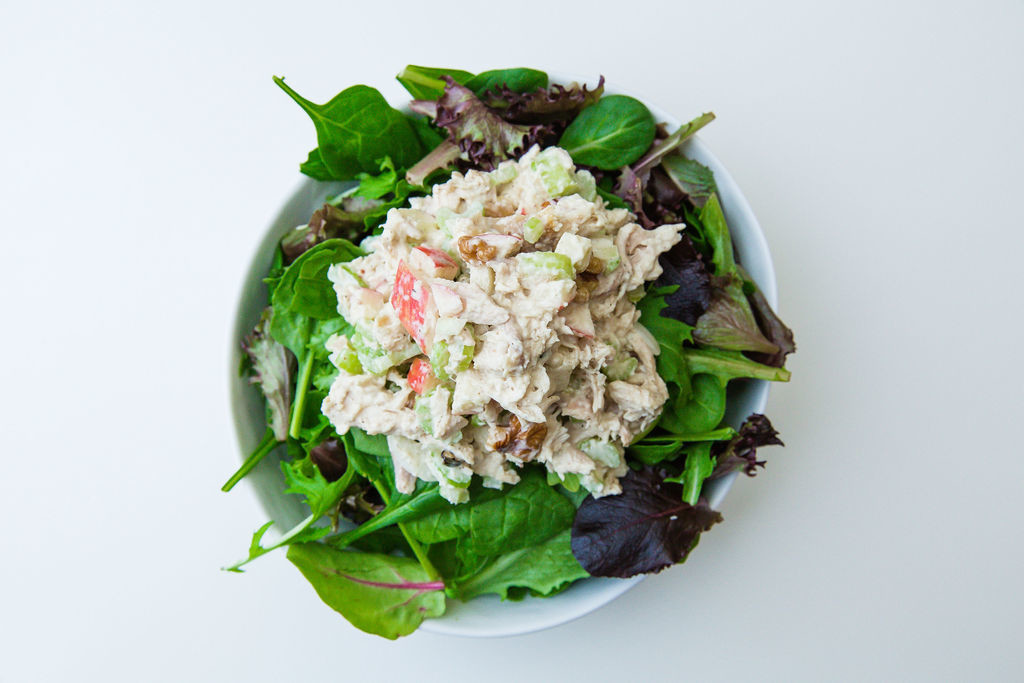 Chicken Salad Over Greens