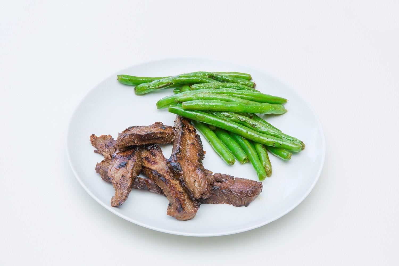 Grassfed Garlic Ghee Steak with Lemon Green Beans