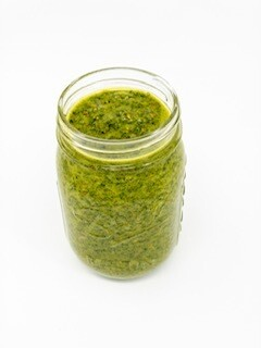 Jar of Pistachio Pesto