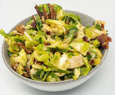Roasted Chicken And Shaved Brussels Sprout Salad