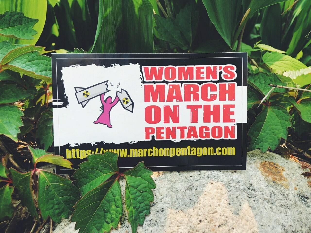 """Vintage"" Women's March on the Pentagon Sticker"