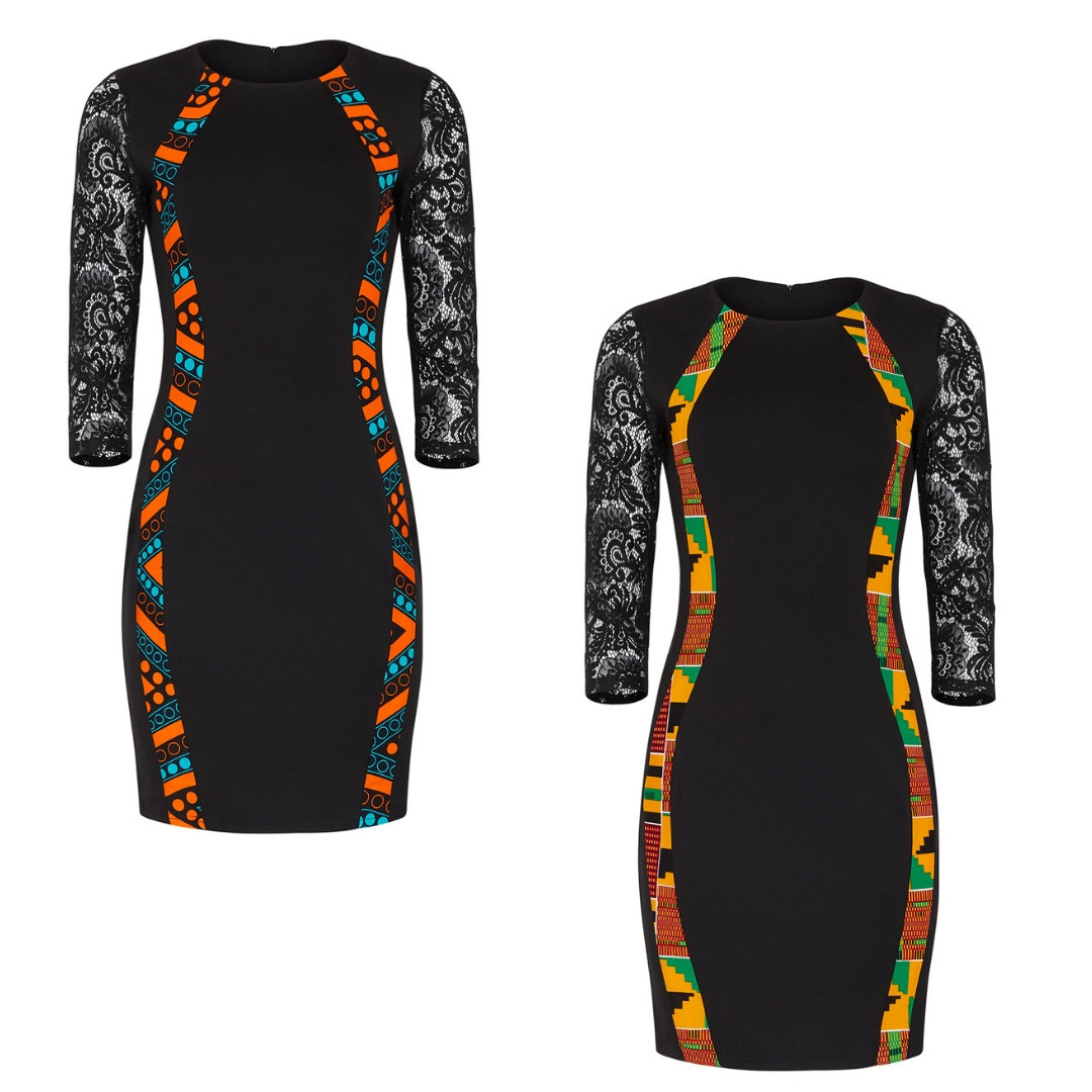 African Hour Glass Dress - African Dresses