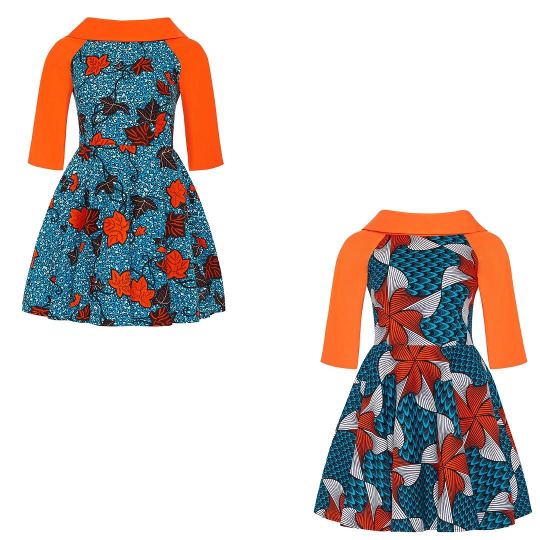 African Dress - Skater African Dresses