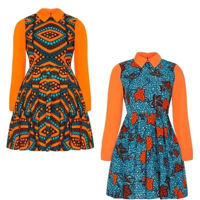African Dress - Flattering A-Line Dress