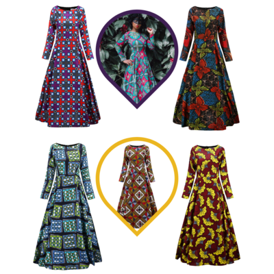 African Dresses - Maxi Dress