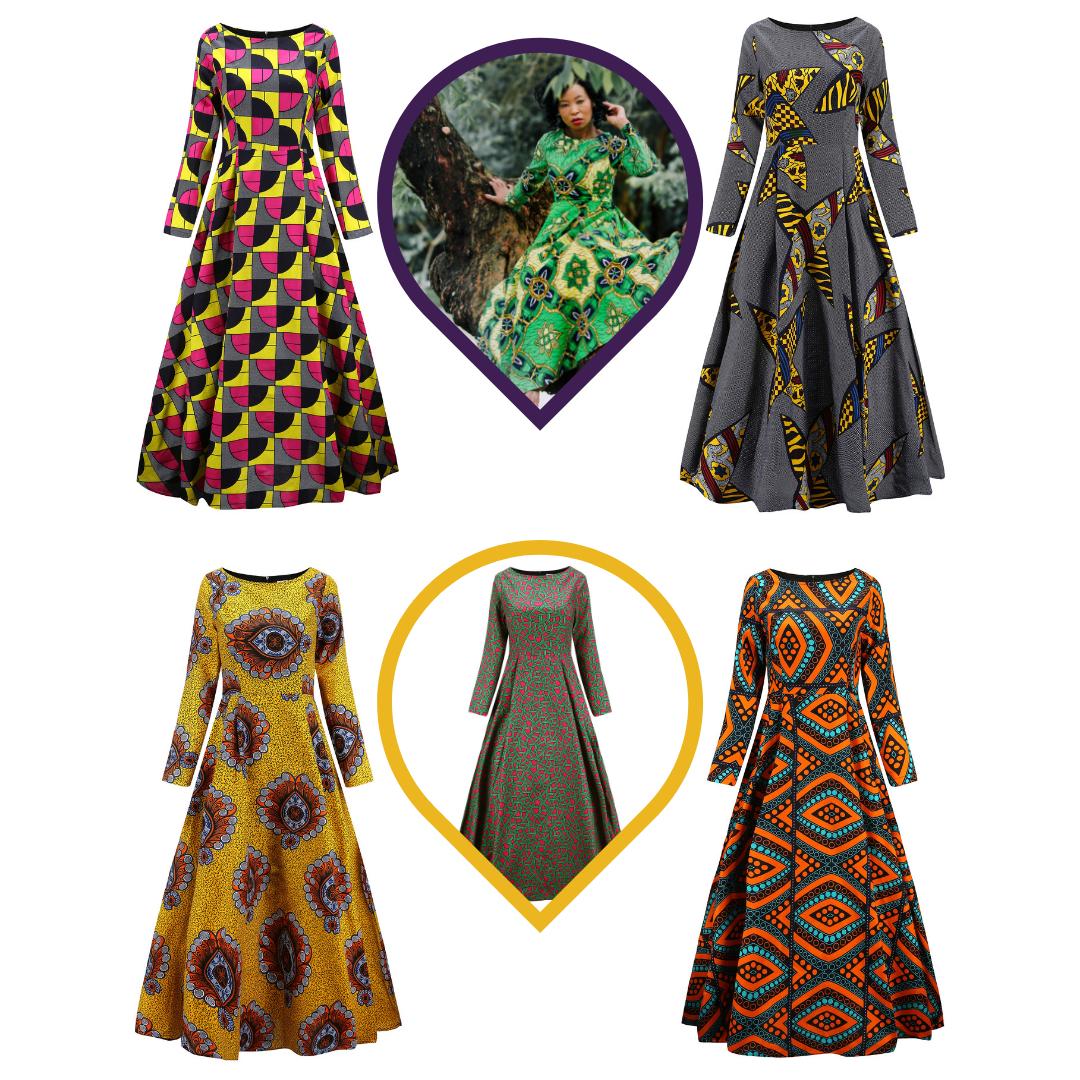 African Maxi Dresses - Maxi Dress
