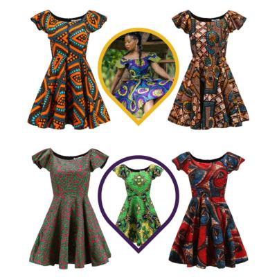 African Dresses - Skater Dress