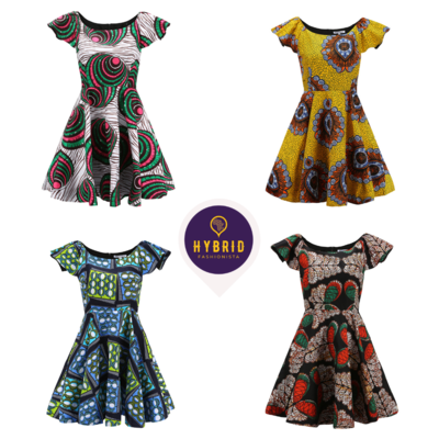 African Dress - Skater Ankara Dresses