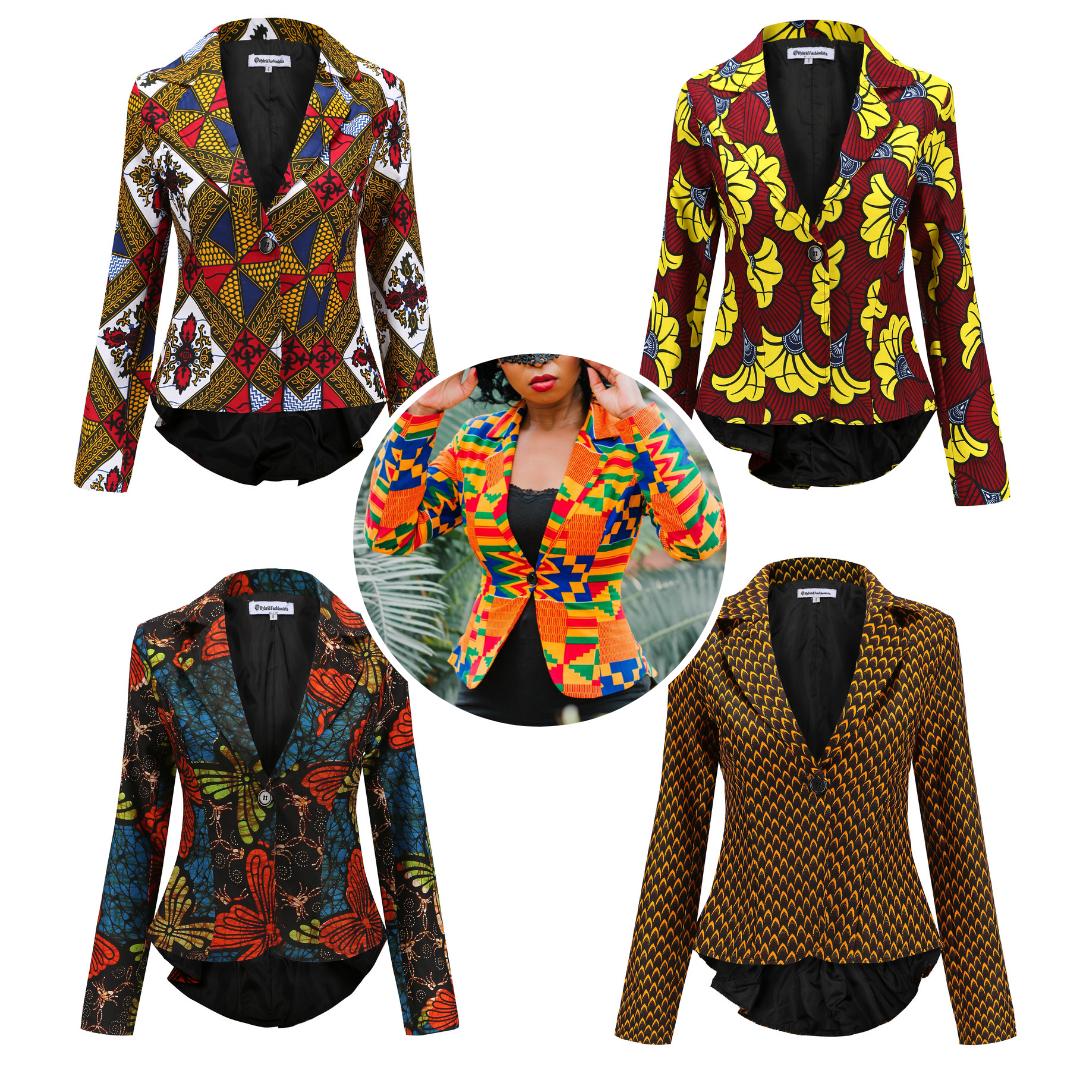 African Jackets - Kente Blazers
