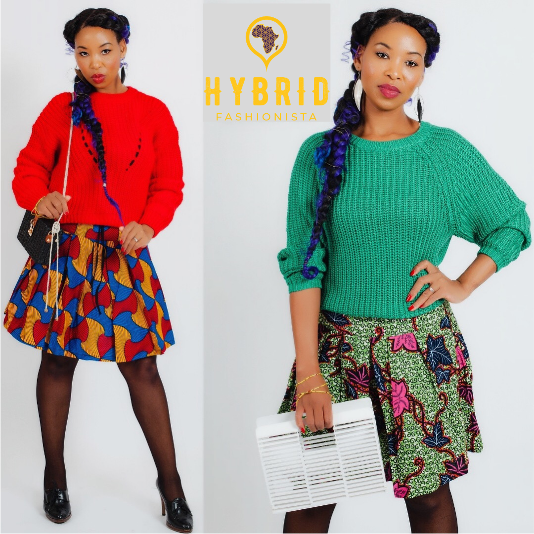 African Skirts - Pleated Skirts