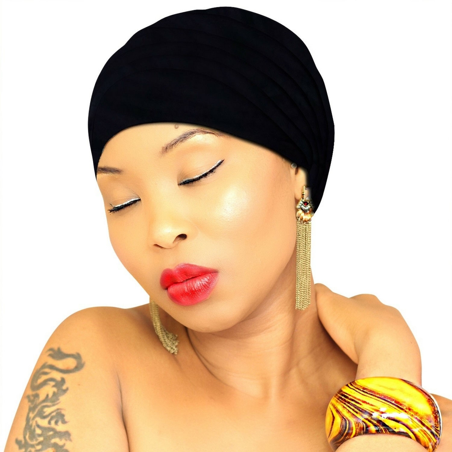 Black Head Wraps