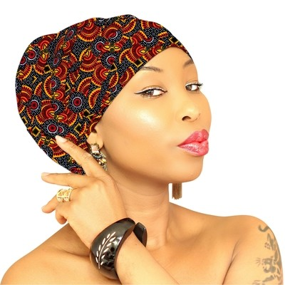 African Head Wrap - Royal