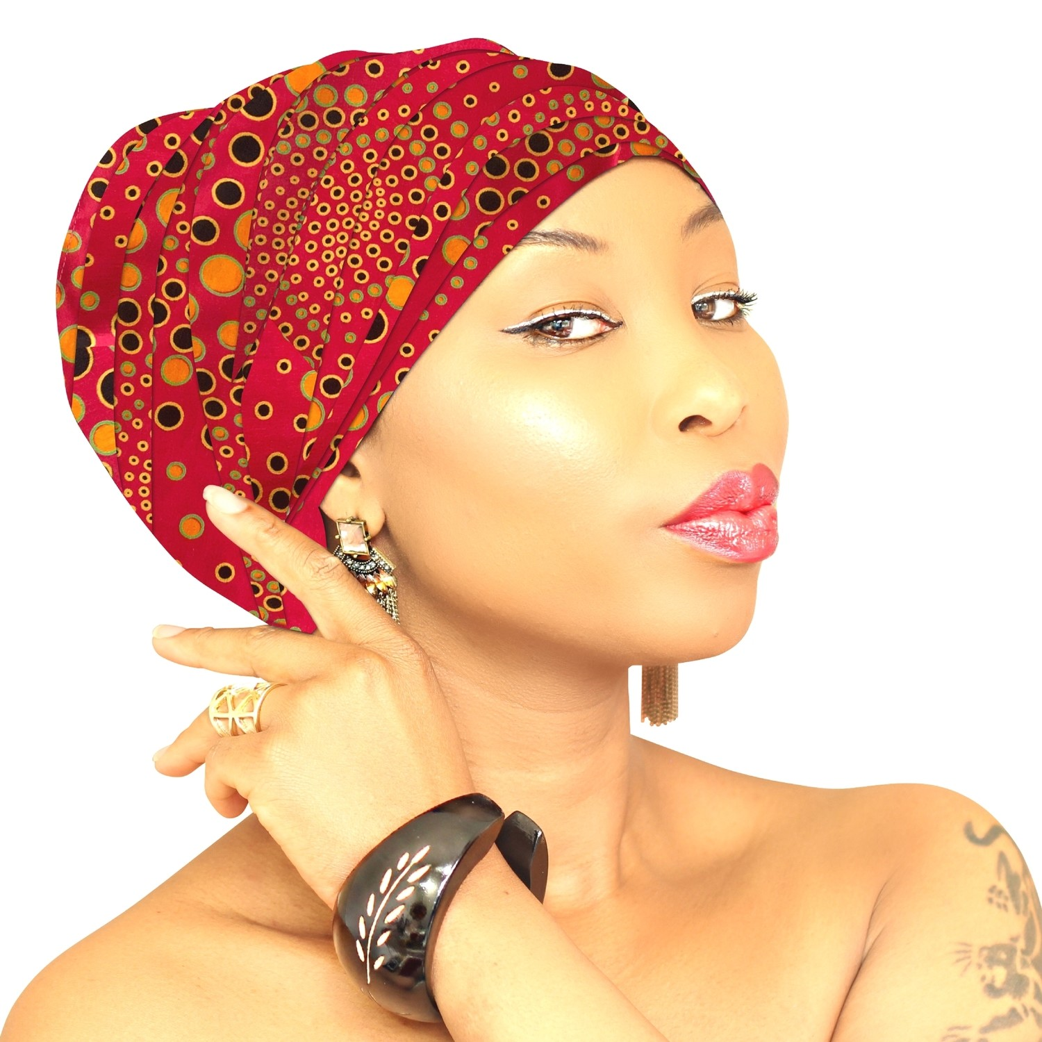 African Head Wraps - Pink Burst