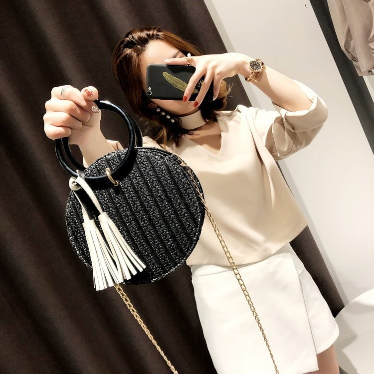 Round Rattan Style Bag