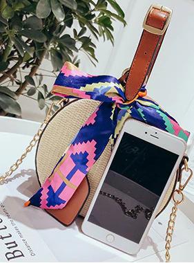 Round Straw Style Bag