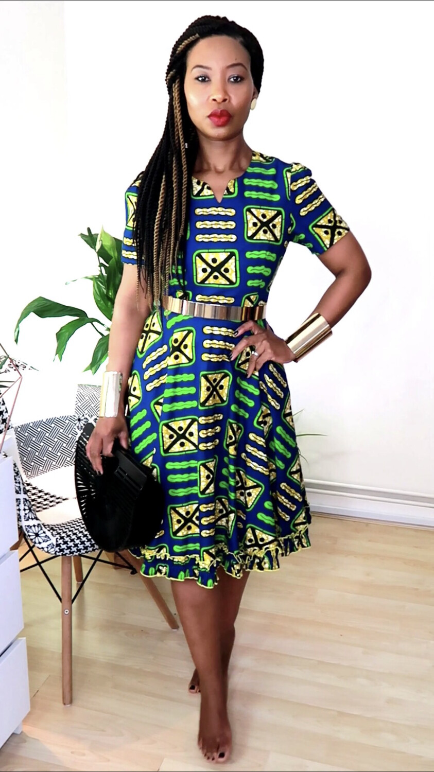 African dress boss Lady - Blue