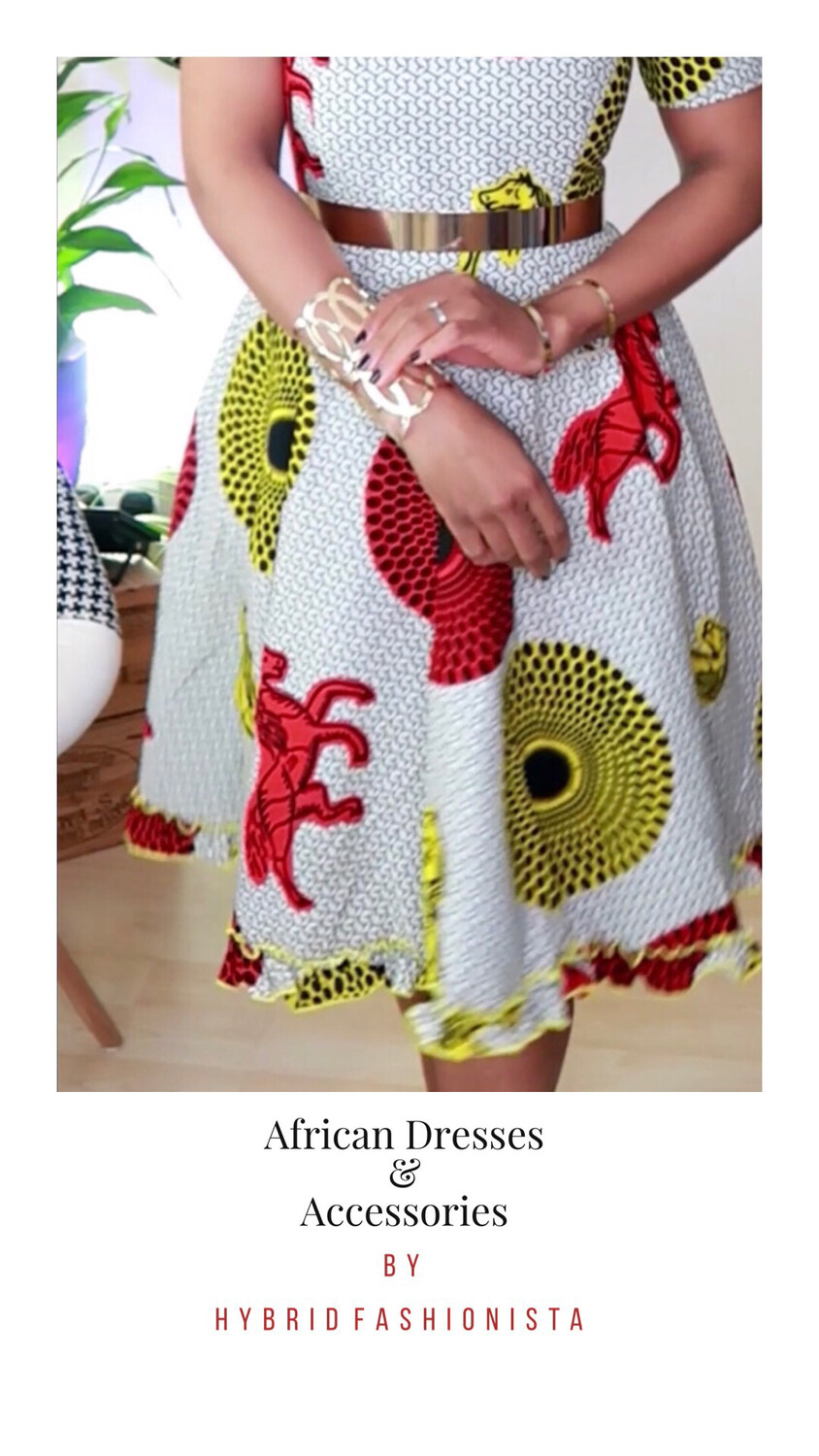 African Dress - Boss Lady white