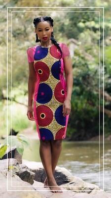 African Hour Glass Dress - African Dresses