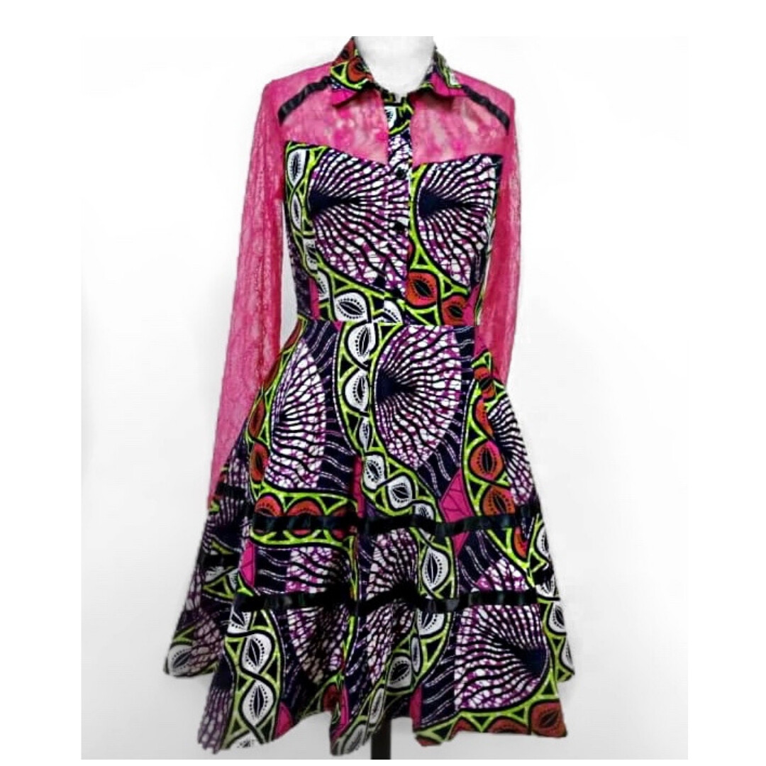 African Dress - Lux Lace Dress