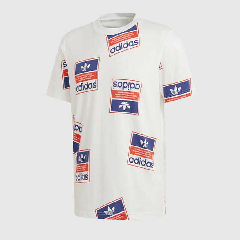 Adidas MEN'S STICKERBOMB T-SHIRT (WHITE)
