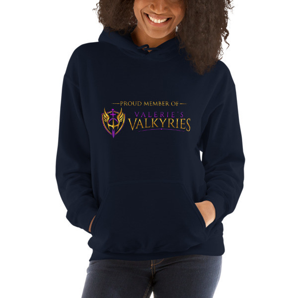 Hooded Sweatshirt - Front logo Valerie's Valkyries