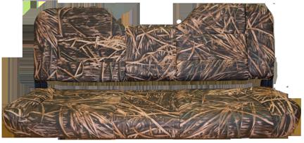 "48"" Folding Bench Seat Camo - Mossy Shadow Grass Vinyl"