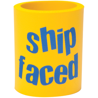 Can Cooler - Shipaced - Yellow/Blue