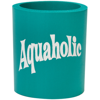Can Cooler - Aquaholic - Teal/White 22107