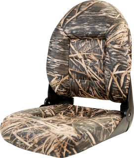 NaviStyle™ High-Back Camo Boat Seat - Mossy Oak Shadow Grass - Vinyl