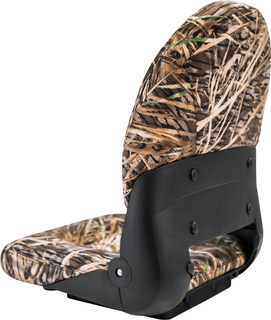 NaviStyle™ High-Back Camo Boat Seat - Mossy Oak Shadowgrass - Cordura