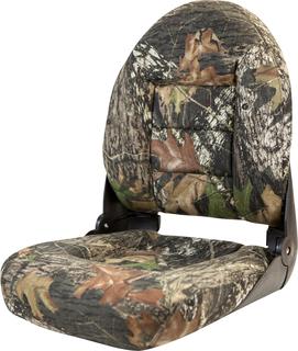 NaviStyle™ High-Back Camo Boat Seat - Mossy Oak Break Up - Cordura