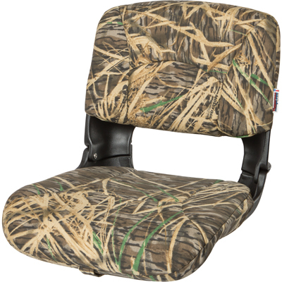 All-Weather™ High-Back Boat Seat Camo - Mossy Oak Shadowgrass - Cordura