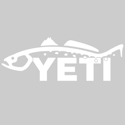 YETI Trout Window Decal