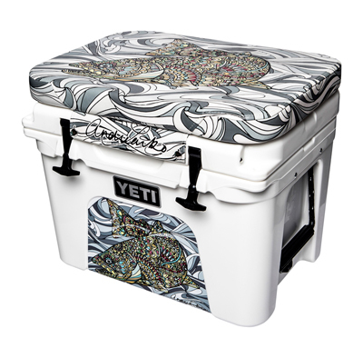 Larko Brown Trout Cushion and Wrap Combination - 35QT