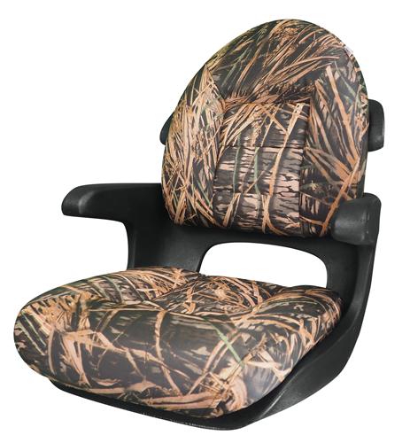 Elite Helm High-Back Boat Seat - Mossy Oak Shadow Grass - VINYL