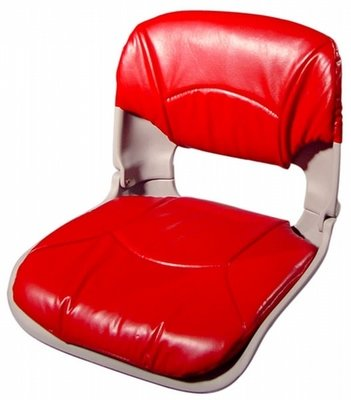 All-Weather™ Low-Back Boat Seat & Cushion Combo - Red / Gray