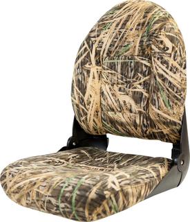 NaviStyle™ High-Back Camo Boat Seat - Mossy Oak Shadowgrass - Cordura