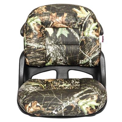 Fisherman's Armless Low-Back Helm Seat - Mossy Oak Break Up - VINYL